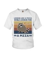Raccoon Lookin Like A Pizza Youth T-Shirt thumbnail