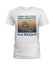 Raccoon Lookin Like A Pizza Ladies T-Shirt thumbnail