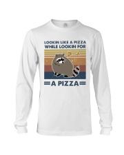 Raccoon Lookin Like A Pizza Long Sleeve Tee thumbnail