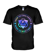 Perception Check Yourself V-Neck T-Shirt thumbnail