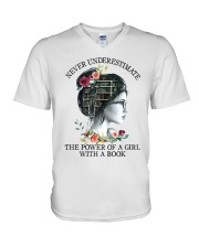 The Power Of A Girl V-Neck T-Shirt thumbnail