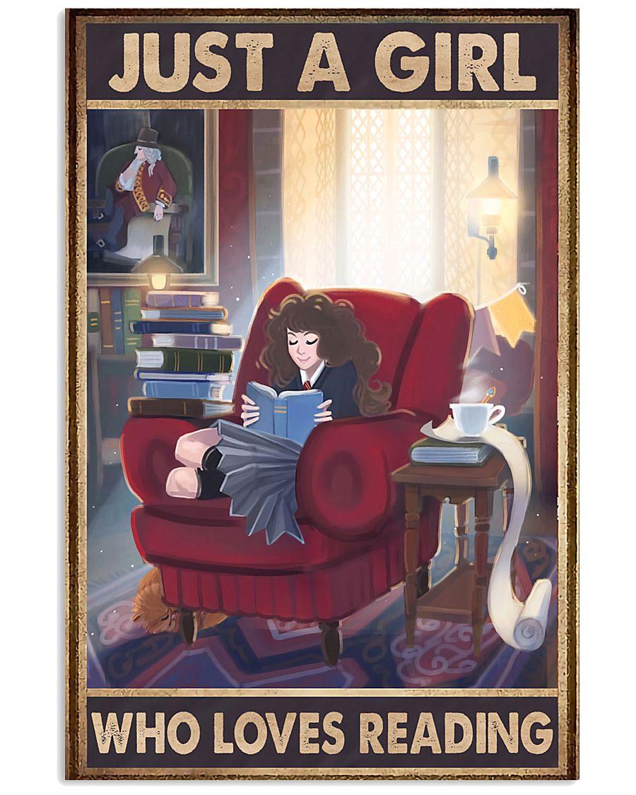 A Girl Loves Reading 11x17 Poster