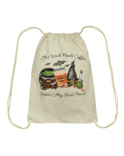 This Witch Needs Coffee Drawstring Bag thumbnail