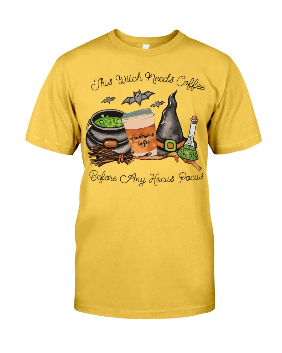 This Witch Needs Coffee Classic T-Shirt