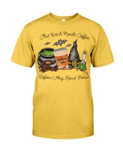 This Witch Needs Coffee Classic T-Shirt front