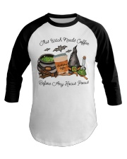 This Witch Needs Coffee Baseball Tee thumbnail