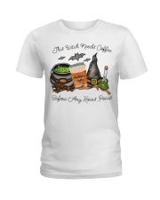 This Witch Needs Coffee Ladies T-Shirt thumbnail