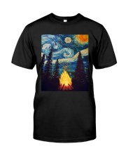 Campfire Starry Night Art Classic T-Shirt front