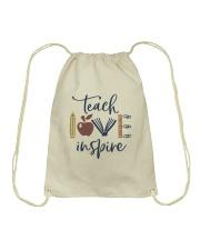 Teach Love Inspire Drawstring Bag thumbnail