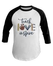 Teach Love Inspire Baseball Tee thumbnail