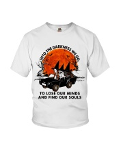 Into The Darkness We Go Youth T-Shirt thumbnail