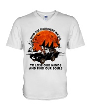 Into The Darkness We Go V-Neck T-Shirt thumbnail