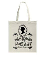 If A Book Is Well Tote Bag thumbnail