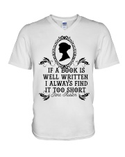 If A Book Is Well V-Neck T-Shirt tile