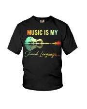 Music Is My Second Language Youth T-Shirt thumbnail