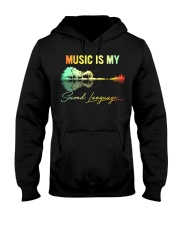 Music Is My Second Language Hooded Sweatshirt thumbnail