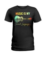 Music Is My Second Language Ladies T-Shirt thumbnail