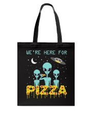 We Are Here For Pizza Tote Bag thumbnail