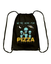 We Are Here For Pizza Drawstring Bag thumbnail