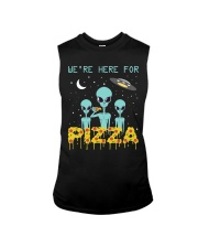 We Are Here For Pizza Sleeveless Tee thumbnail