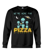 We Are Here For Pizza Crewneck Sweatshirt thumbnail