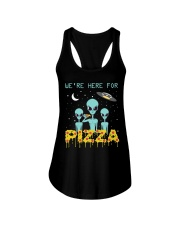 We Are Here For Pizza Ladies Flowy Tank thumbnail