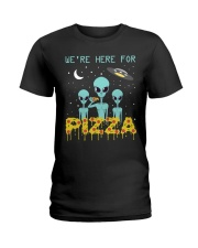 We Are Here For Pizza Ladies T-Shirt thumbnail