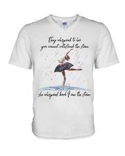 She Whispered Back Im The Storm V-Neck T-Shirt thumbnail