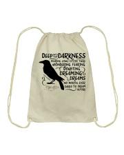 Deep Into That Darkness Drawstring Bag thumbnail