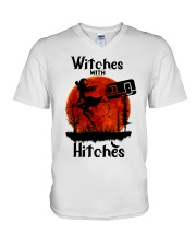 Witches With Hitches V-Neck T-Shirt thumbnail