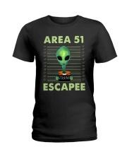 Area 51 Escapee Ladies T-Shirt thumbnail