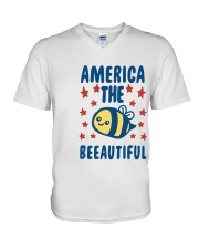 America The Beeautiful V-Neck T-Shirt tile