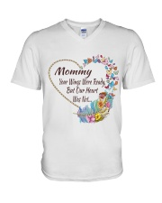 Mommy Your Wings Were Ready V-Neck T-Shirt thumbnail