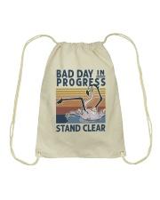 Bad Day In Progress Drawstring Bag thumbnail