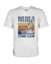 Bad Day In Progress V-Neck T-Shirt thumbnail