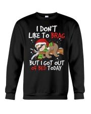 I Dont Like To Brag Crewneck Sweatshirt thumbnail
