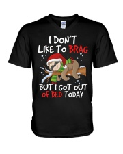 I Dont Like To Brag V-Neck T-Shirt thumbnail