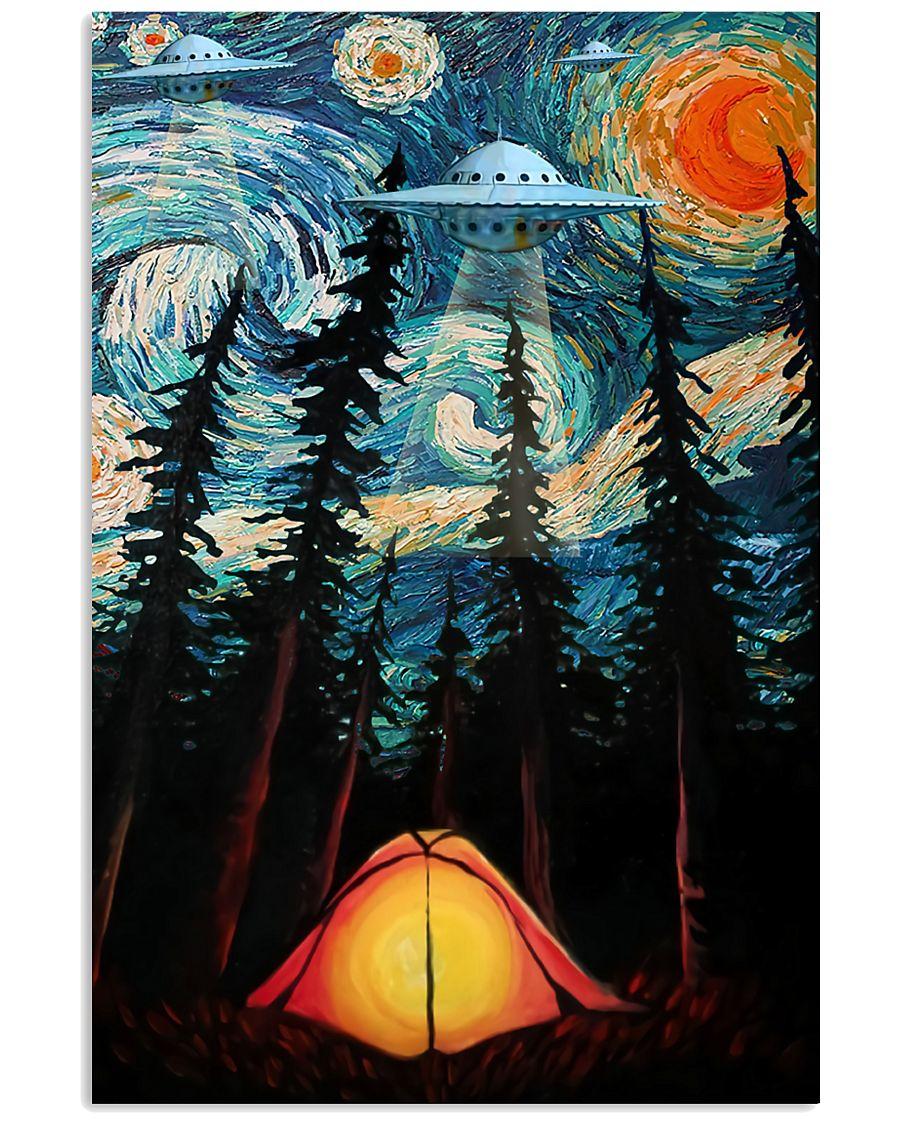 Camping Starry Night UFO Art