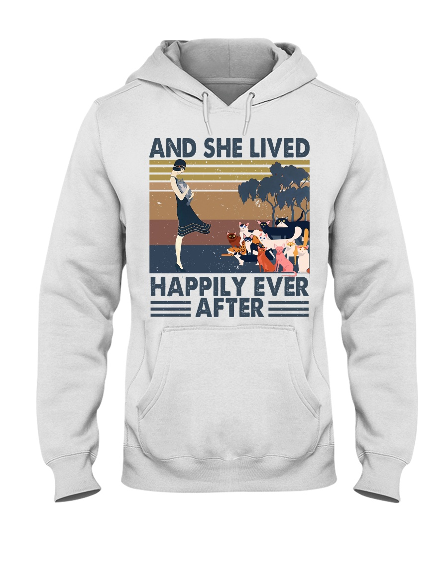 And She Lived Happily Hooded Sweatshirt