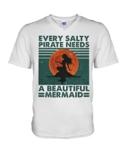 Every Salty A Beautiful V-Neck T-Shirt thumbnail