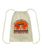 On A Dark Desert Highway Drawstring Bag tile