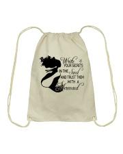 Write Your Secrets Drawstring Bag thumbnail