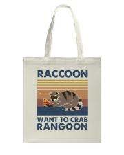 Raccoon Want To Crab Tote Bag thumbnail