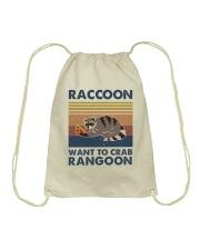 Raccoon Want To Crab Drawstring Bag thumbnail