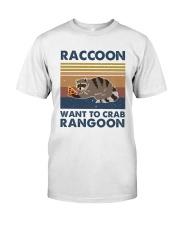 Raccoon Want To Crab Classic T-Shirt thumbnail