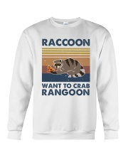 Raccoon Want To Crab Crewneck Sweatshirt thumbnail