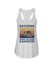 Raccoon Want To Crab Ladies Flowy Tank thumbnail