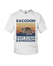 Raccoon Want To Crab Youth T-Shirt thumbnail