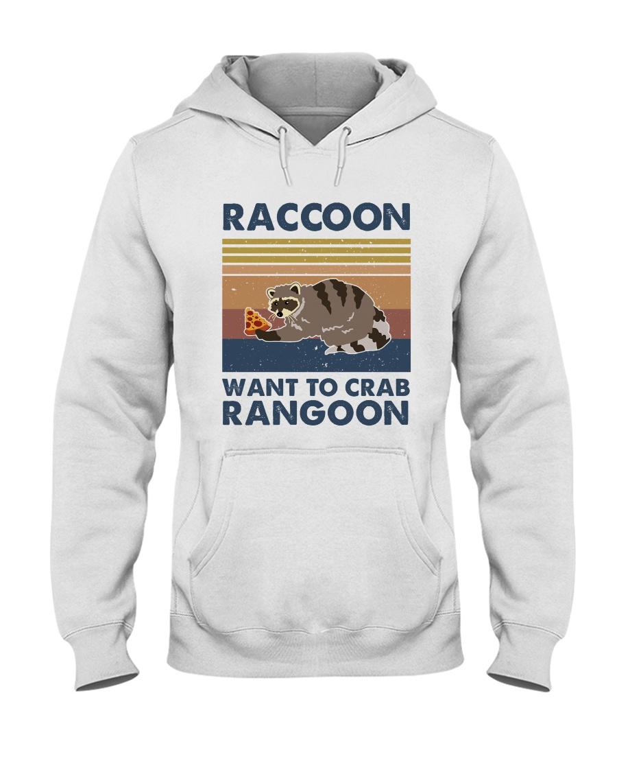 Raccoon Want To Crab Hooded Sweatshirt