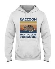 Raccoon Want To Crab Hooded Sweatshirt front